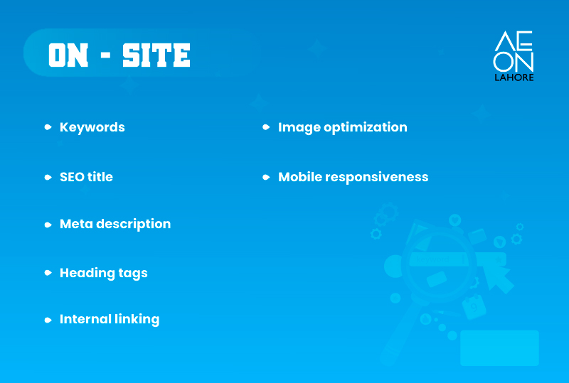 SEO on-site features